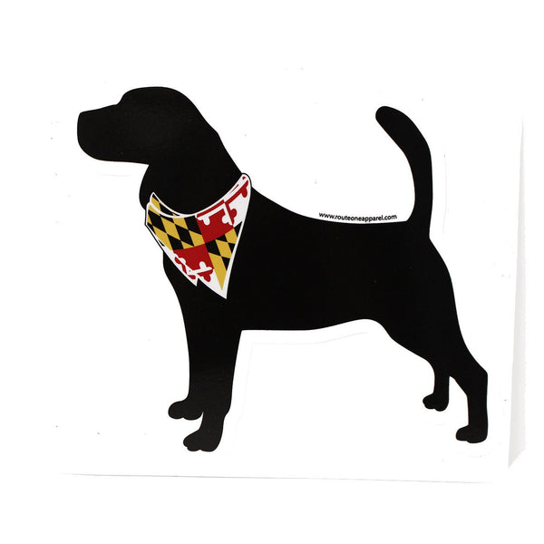 Dog Silhouette with Maryland Bandana / Sticker
