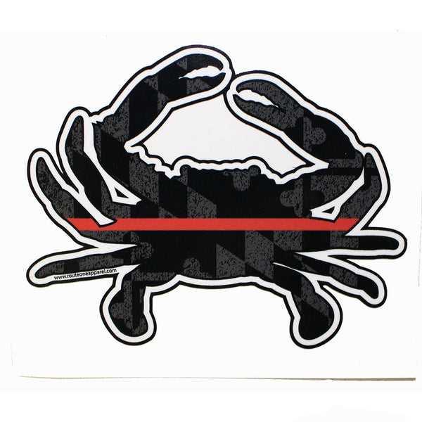 Maryland Red Line Crab / Sticker
