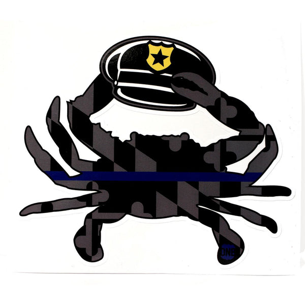 Maryland Blue Line Police Hat Crab / Sticker