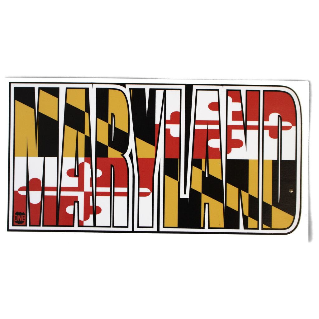 Maryland Flag in Maryland / Sticker
