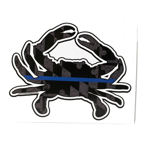 Maryland blue line crab sticker route one apparel