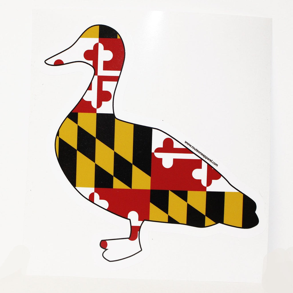 Maryland Flag Duck / Sticker