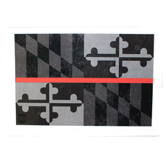 Maryland Flag Red Line / Sticker