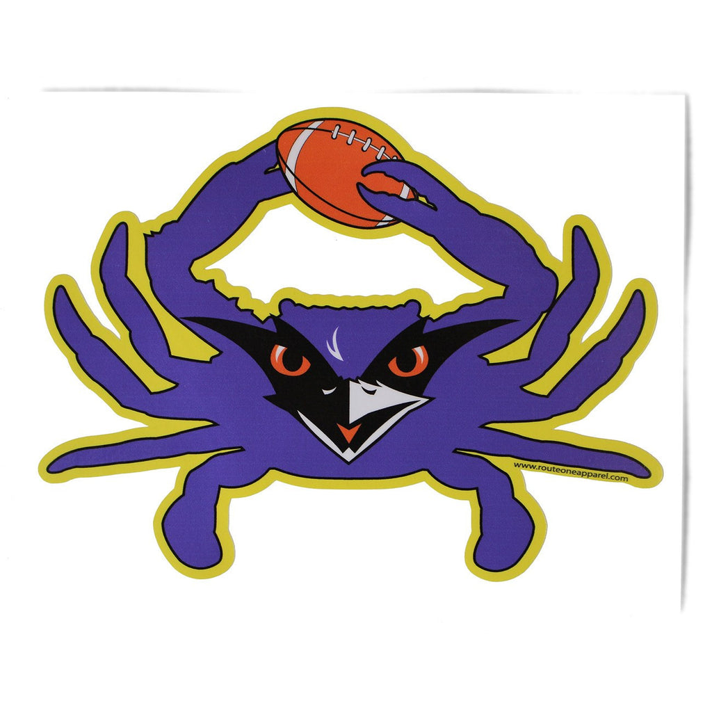 Baltimore Football Crab (Purple) / Sticker - Route One Apparel