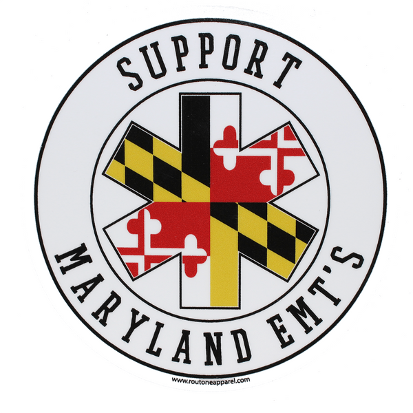 Support Our Maryland EMT's (Round) / Sticker