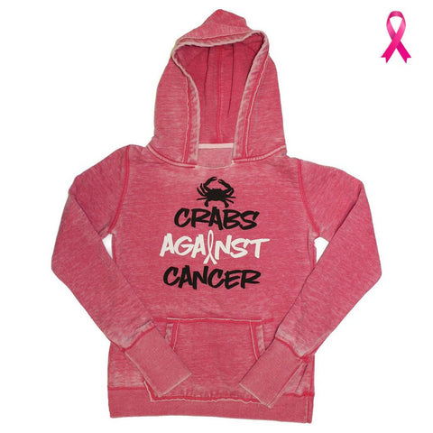Crabs Against Cancer (Wildberry) / Ladies Hoodie