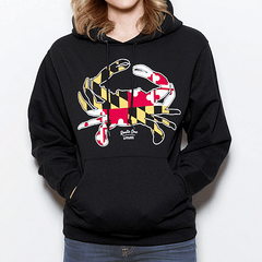 Maryland Full Flag Crab (Black) / Hoodie