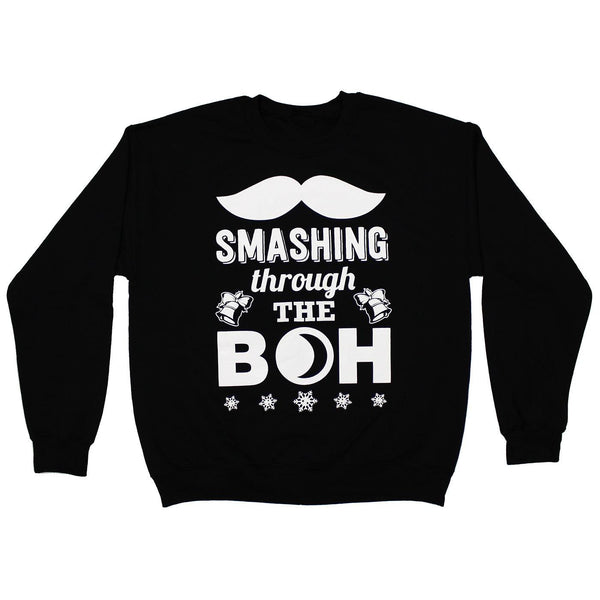 Smashing Through The Boh (Black) / Crew Sweatshirt