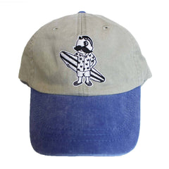 Natty Boh Surfer Dude in White (Stone w/ Royal Brim) / Baseball Hat