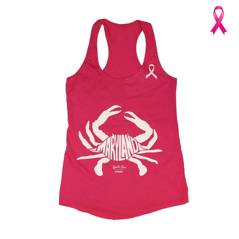 Maryland in Maryland Crab *Pink Edition* (Raspberry) / Ladies Racerback Tank