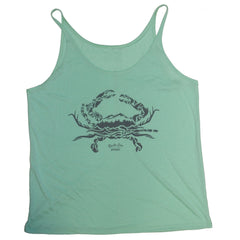 Nature Crab (Mint) / Ladies Slouchy Tank