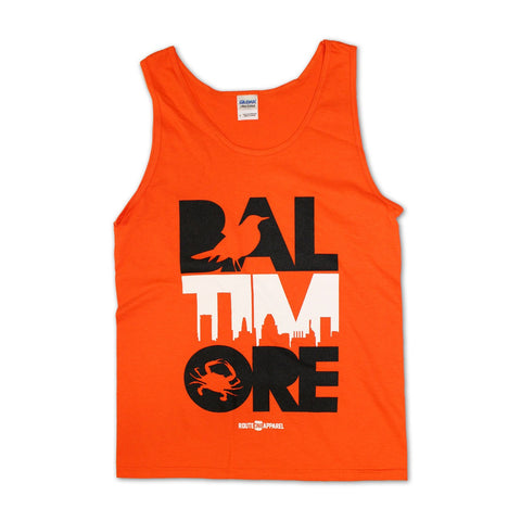 Baltimore Icon Orange & White (Orange) / Tank - Route One Apparel