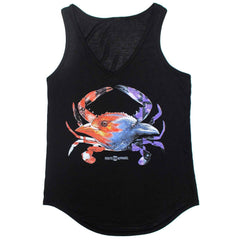 Baltimore Birds Crab (Black) / Ladies Flowy Tank - Route One Apparel