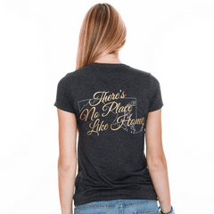 There's No Place Like Home (Heather Grey) / Ladies Shirt