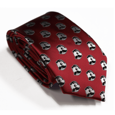 Embroidered Natty Boh Logo Pattern (Red) / Tie