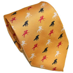 Embroidered Maryland Horse Racing (Gold) / Tie