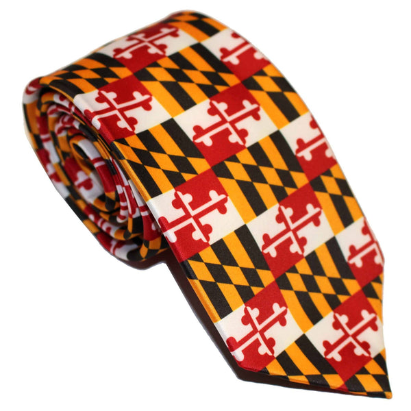 Maryland Flag (Small Pattern) / Tie