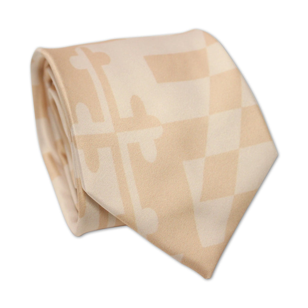 Maryland Flag Sepia Two-Tone / Tie