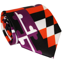 Baltimore Purple & Orange Maryland Flag / Tie - Route One Apparel