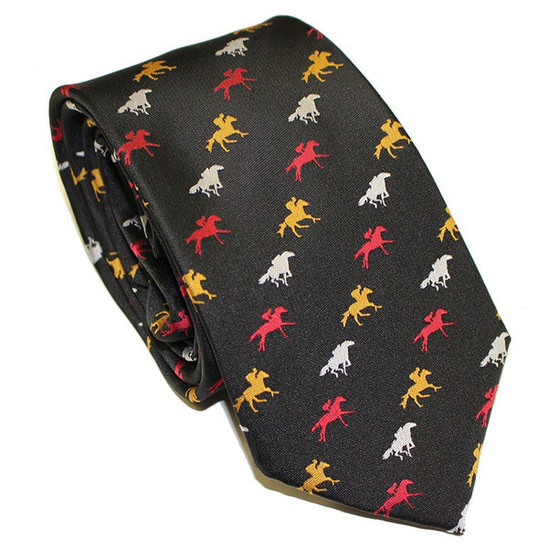 Embroidered Maryland Horse Racing (Black) / Tie