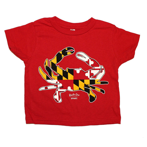 Maryland Full Flag Crab (Red) / *Toddler* Shirt