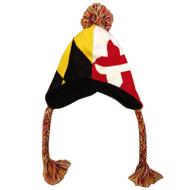 University of Maryland & Maryland Flag / Ski Hat
