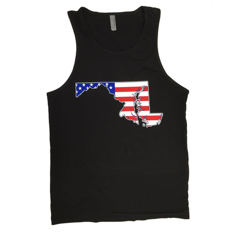American State of Maryland (Black) / Tank - Route One Apparel