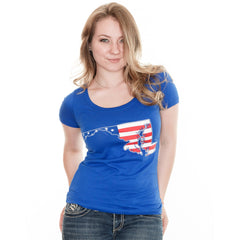 American State of Maryland (Royal Blue) / Ladies Scoop Neck Shirt - Route One Apparel