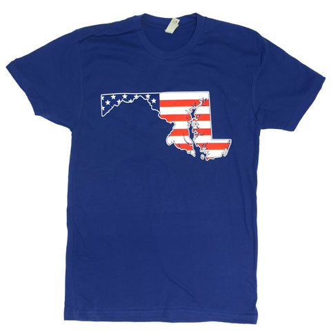 American State of Maryland (Royal Blue) / Shirt - Route One Apparel
