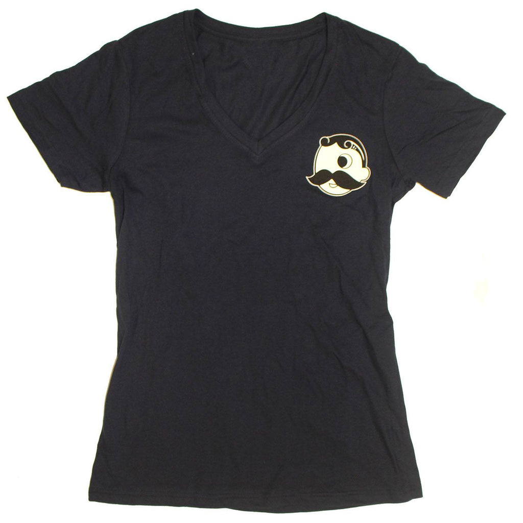 Natty Boh License Plate (Navy) / Ladies V-Neck Shirt