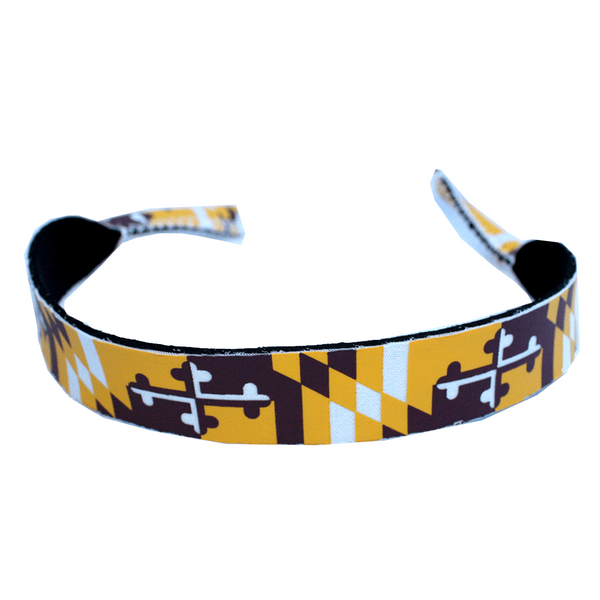 Burgundy & Gold Maryland Flag / Neoprene Croakie - Route One Apparel