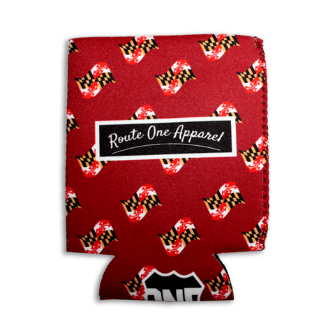 Waving Maryland Flag (Burgundy) / Koozie