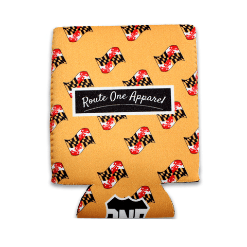 Waving Maryland Flag Pattern (Yellow) / Koozie
