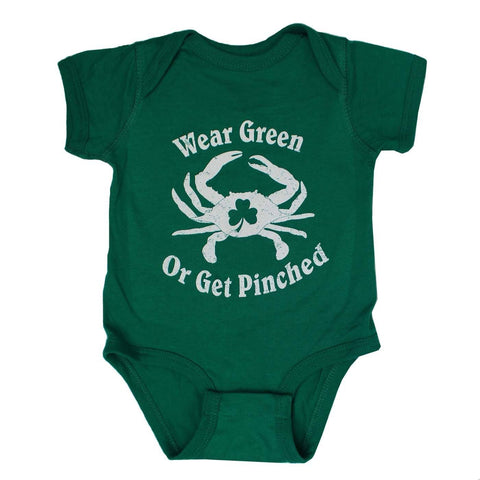 Wear Green or Get Pinched (Green) / Baby Onesie