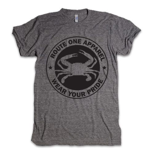 Grey & Black Route One Crab Shield / Shirt