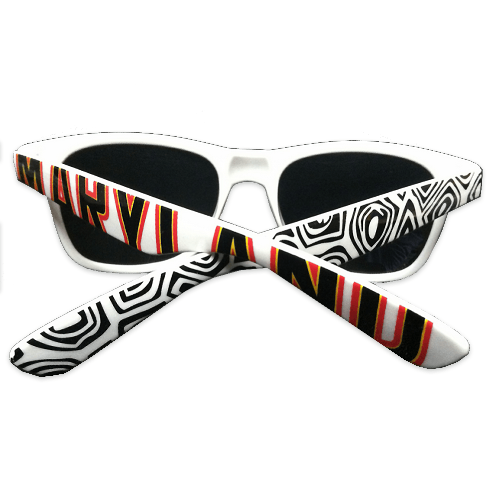 Maryland & Turtle Shell Pattern (White) / Sunglasses
