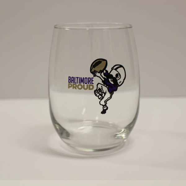 Baltimore Proud Boh / Stemless Wine Glass