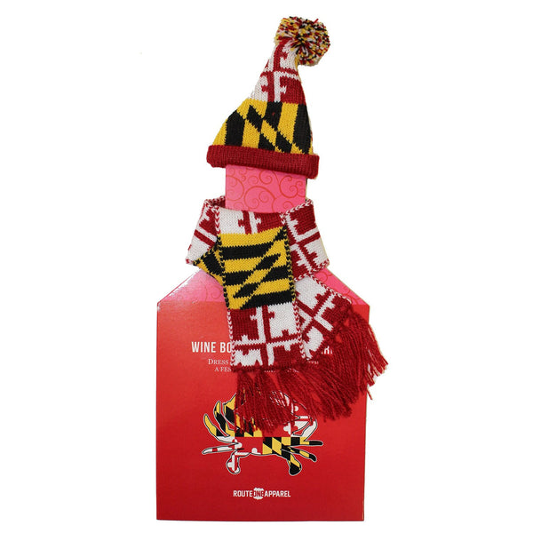 Maryland Flag / Wine Bottle Cap & Scarf