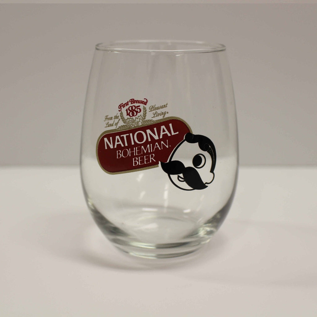 National Bohemian Beer / Stemless Wine Glass