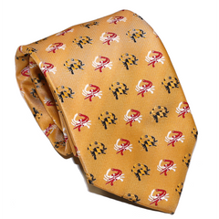 Embroidered Maryland Flag Crab (Gold) / Tie