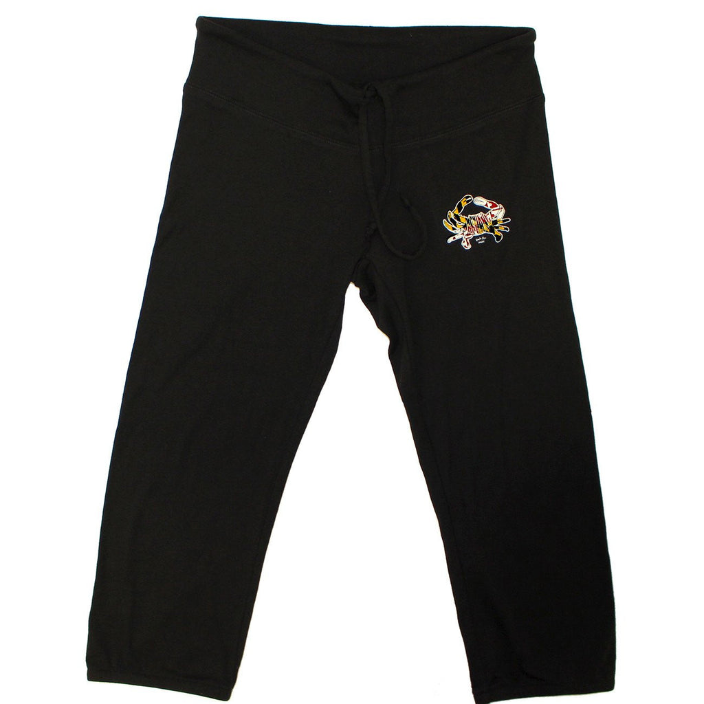 Maryland in Maryland in Maryland Crab (Black) / Capri Scrunch Pants