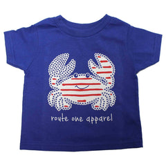 Stars & Stripes Crab (Royal) / *Toddler* Shirt