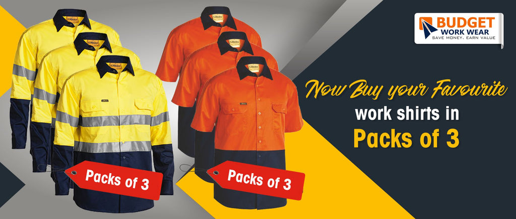 Now Buy your Favorite work shirts in Packs of 3