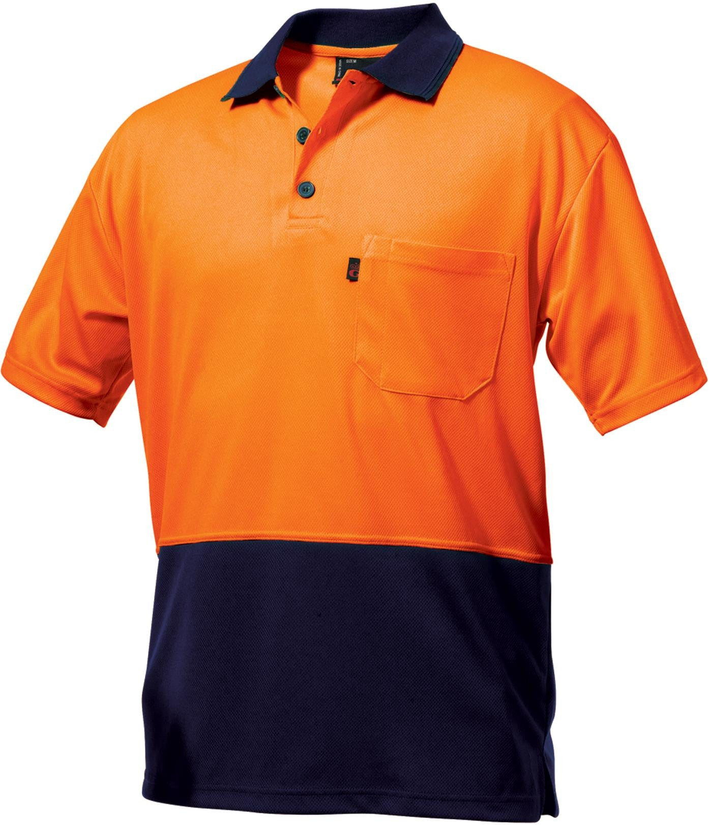 King Gee Hi Vis Spliced Colour Sun Protect Polo - Micromesh (K54220)
