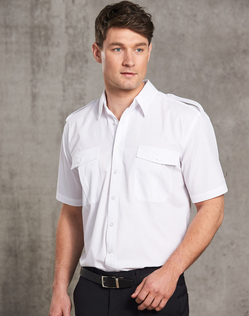 Winning Spirit Men's Short Sleeve Epaulette Shirts (BS06S)