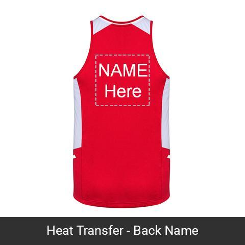 Single Color Heat Transfer-Front/Back Team Names