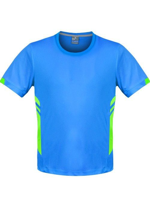 Aussie Pacific-Aussie Pacific Mens Tasman Tee-Cyan/Neon Green / S-Uniform Wholesalers - 4