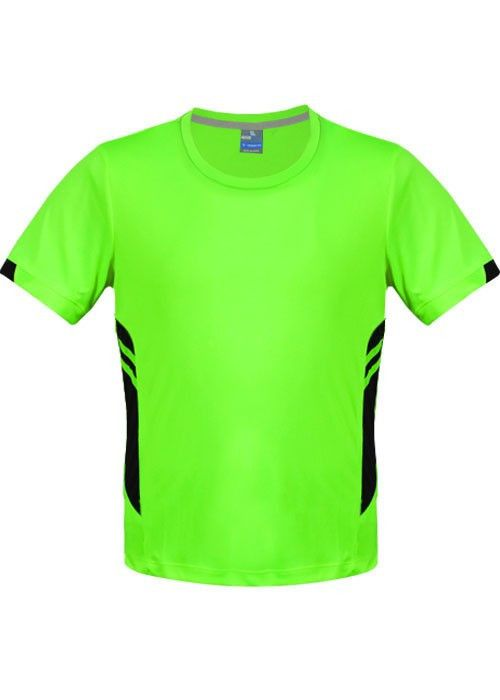 Aussie Pacific-Aussie Pacific Mens Tasman Tee-Neon Green/Black / S-Uniform Wholesalers - 5