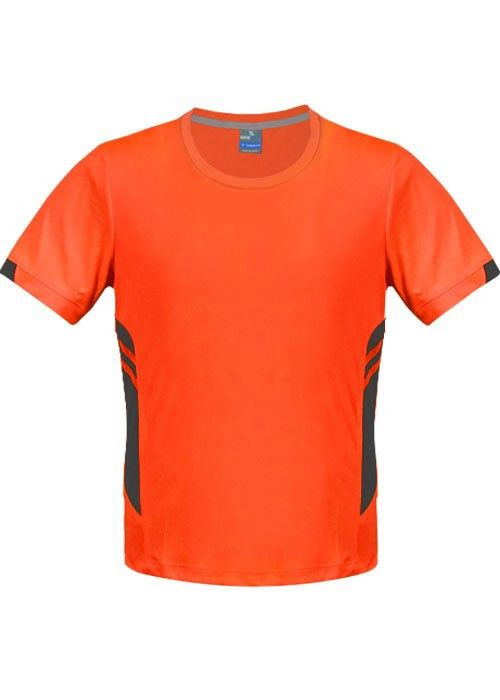 Aussie Pacific-Aussie Pacific Mens Tasman Tee-Neon Orange/Slate / S-Uniform Wholesalers - 6