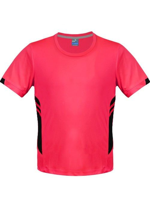 Aussie Pacific-Aussie Pacific Mens Tasman Tee-Neon Pink/Black / S-Uniform Wholesalers - 7